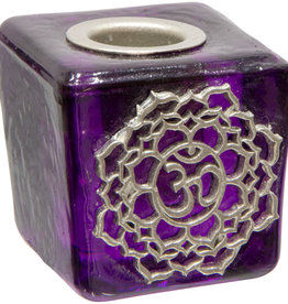 Crown Chakra Mini Glass Candle Holder