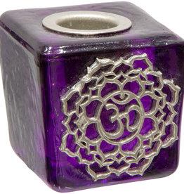 Crown Chakra Mini Glass Candle Holder