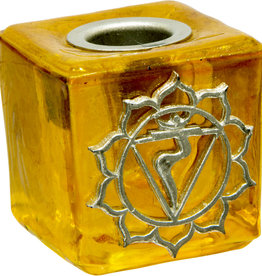 Solar Plexus Chakra Mini Glass Candle Holder