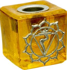 Solar Plexus Chakra Mini Glass Candle Holder