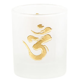 Om Glass Votive Candle Holder