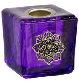 Mini Lotus Purple Candle Holder