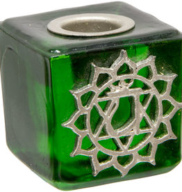 Heart Chakra Mini Glass Candle Holder