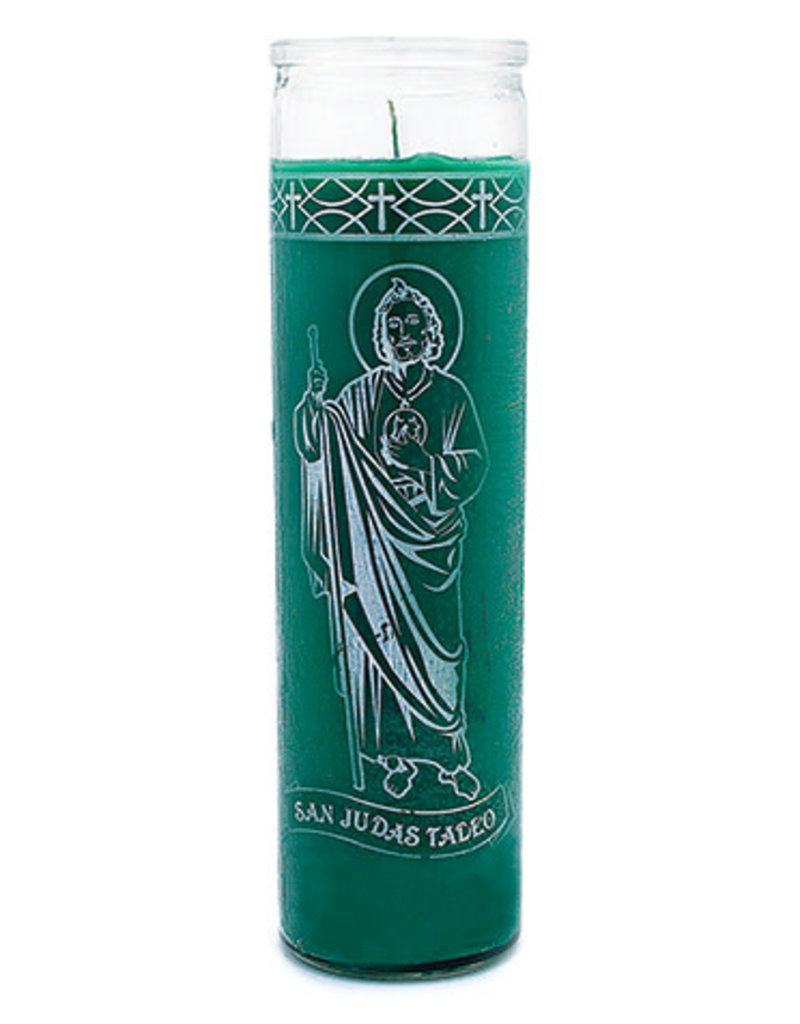 7 Day Candle - St. Jude Green - C8S-STJUDE