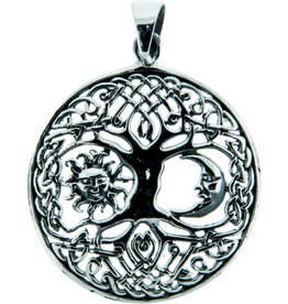 Pendant: Tree of Life w/Sun & Moon BL25018