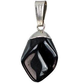 Tumbled Black Onyx Pendant