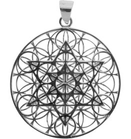 Pendant- Flower of Life large Sterling Silver- BL17002