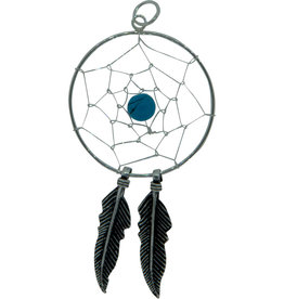 Pendant- Dreamcatcher w/Turquoise Sterling Silver - BL36015