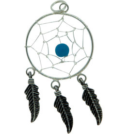 Pendant- Dreamcatcher w/Turquoise Sterling Silver - BL36016