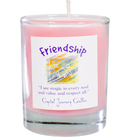 Friendship Herbal Magic Glass Votive
