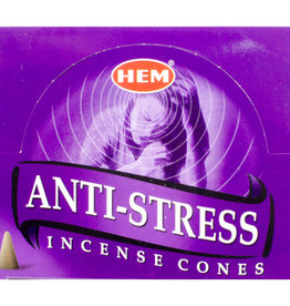 Incense - Hem Anti-Stress Cones - 72044 (IHEM-CN-ANTI)