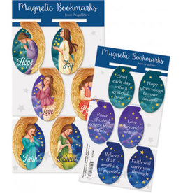 Magnetic Angel Oval Bookmarks
