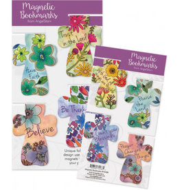 Magnetic Floral Cross Bookmarks