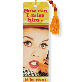 How Can I MIss Him? Beaded Bookmark