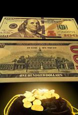 $100 Gold Feng Shui Bill