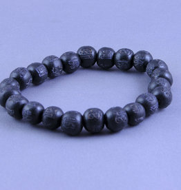 Luckyness Karma Beads Bracelet - Black - 19