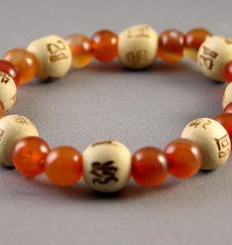 Lucky Karma Beads Bracelet - Carnelian - Empowerment Wisdom - 38