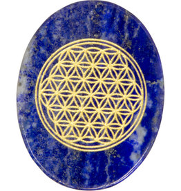 Pocket Stone - Flower of Life - Lapis Lazuli - 17655