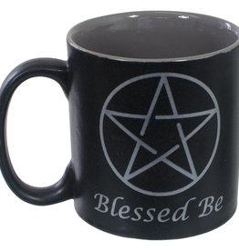 Cup - Ceramic Coffee Mug - Blessed Be Black - 68112
