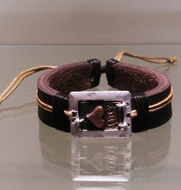 Bracelet - Follow Your Heart Leather - B1171