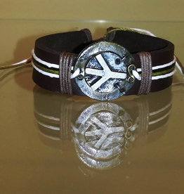 Bracelet - Peace Leather - B1173