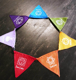 Flag- Seven Chakra Magnetic Prayer Flags - 6261