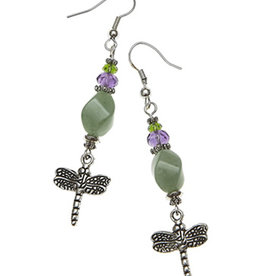 Earrings - Healer with Dragonfly - P03