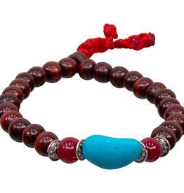 Mala Bracelet - Rosewood and Turquoise - 98026