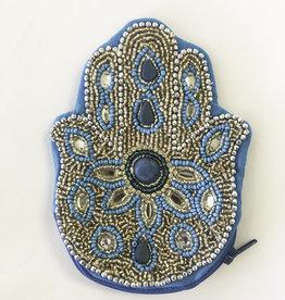 Coin Purse- Hamsa Turquoise - 55823