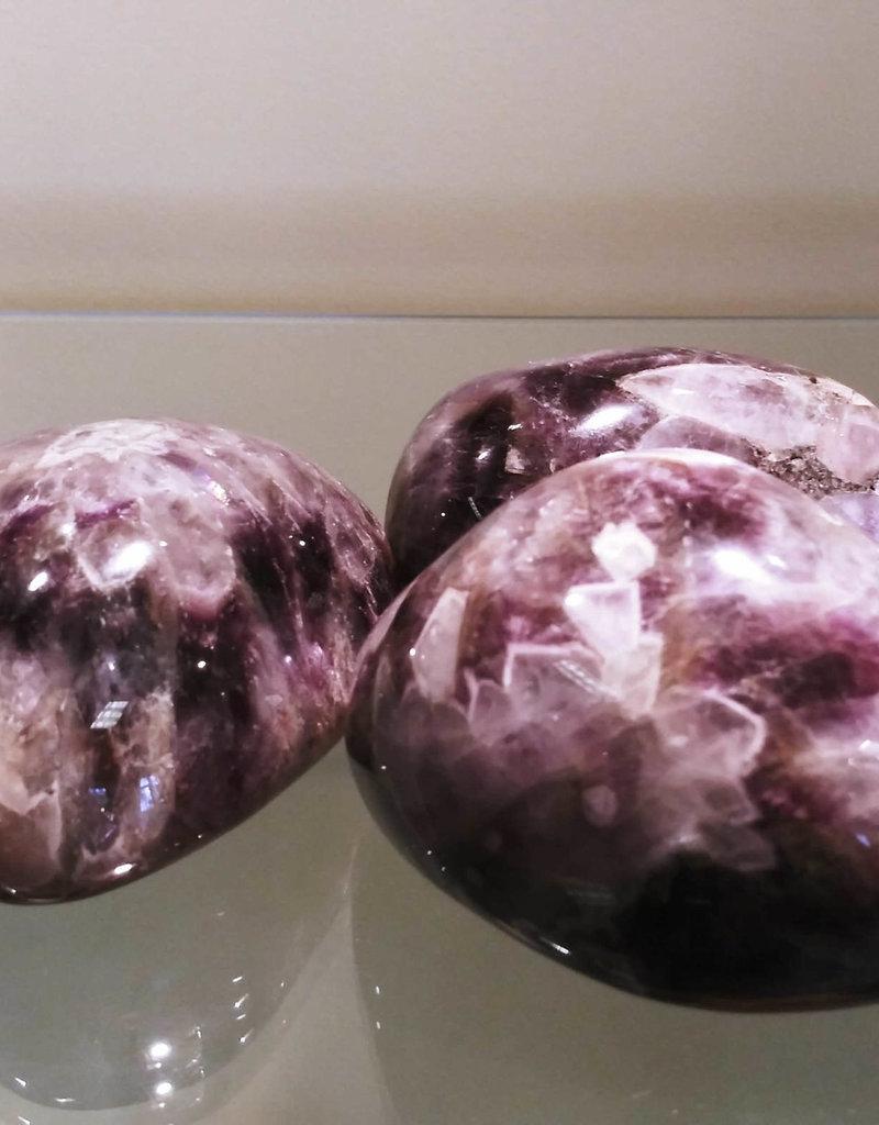 Banded Amethyst (Chevron) Palm Stone - Jumbo