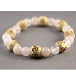 Lucky Karma Rose Quartz Bracelet - Love and Friendship