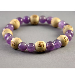 Lucky Karma Amethyst Bracelet - Good Health and Inner Strength