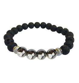 Lava Diffuser Bracelet - Happiness Hematite - 2794