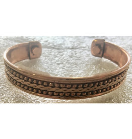 Bracelet - Copper - Tibetan Magnetic India Pattern