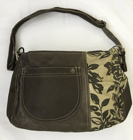 Bag - Floral Shoulder Bag - 38 x 26 x 12 cm - 55625