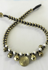 Anklet - Bronze One Strand with Swirls Natural Color - A22059