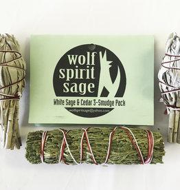 White Sage & Cedar Combo Pkg. - 3.5 - 4 inches - 6579WSCE