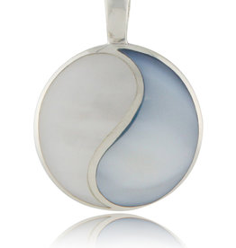 Colorful Mother of Pearl Yin Yang Pendant
