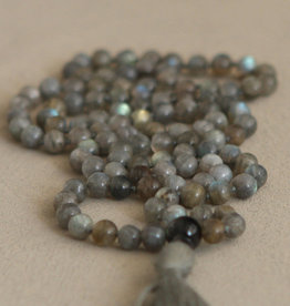 Labradorite Knotted Mala, 108 Bead Count