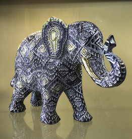 "Statue- Patterned Elephant - 11"" L - KTE-564"