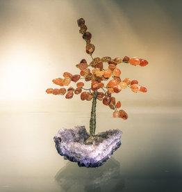 Carnelian Tree on Amethyst Base - TREE