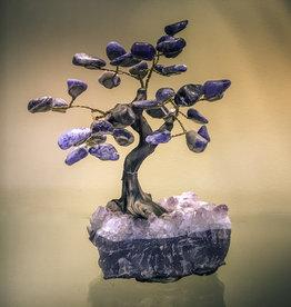 Sodalite Tree on Crystal Base - TREESOD5