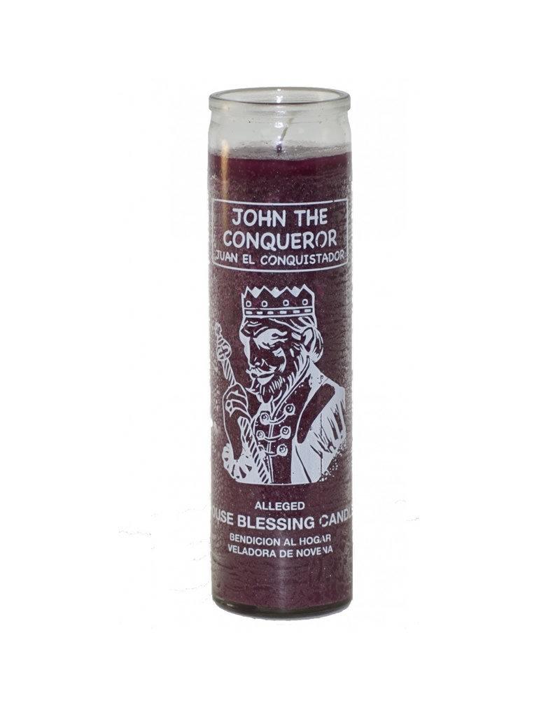 7 Day Candle - John the Conqueror Purple