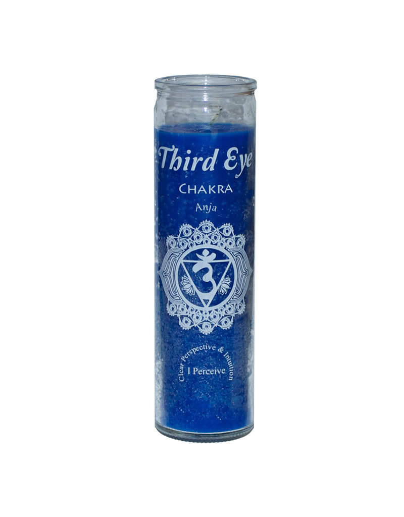7 Day Candle - Chakra Third Eye Blue