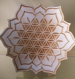 Flower of Life Lotus Crystal Grid - Lotus Crystal Grid - 9 inches