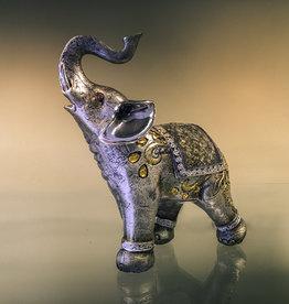 "Statue - Bejeweled Mosaic Elephant 6"" - LKB-206"