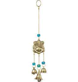 Brass Bell Chime Ganesh with Blue Beads- 31315