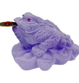 Frosted Acrylic Feng Shui Figurine Money Toad - Purple - 32260