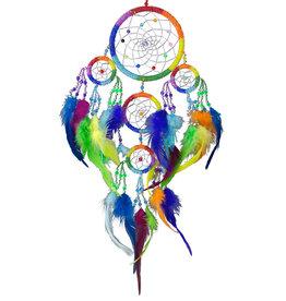 Dream Catcher Beaded Chakra Rainbow- 30058