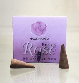 Incense - Nag Champa Rose Cone- ISAT-ROSECN